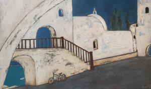Entry Island Monastery 36x54, 2020, $1650